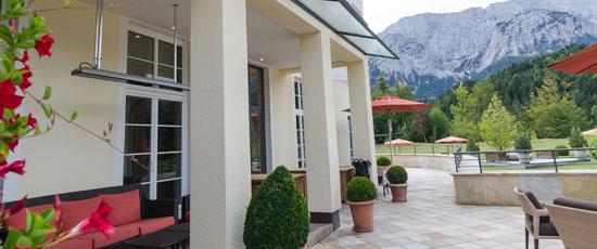 HEATSCOPE Heizloesung fuer halboffene Terrassen und Bereiche, Schloss Elmau