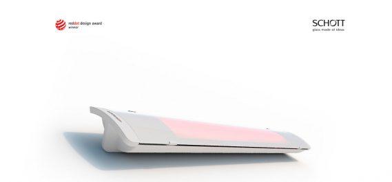 HEATSCOPE PURE Design-Heizstrahler, 2400W White, MHS-PE-2400WT