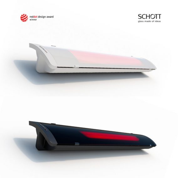 HEATSCOPE PURE Slim Line Design-Heizstrahler, RedDot Design Award Winner