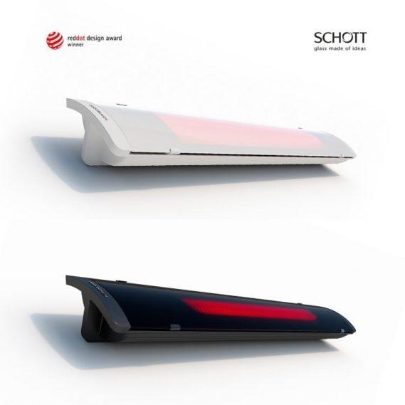 HEATSCOPE PURE Slim Line Design-Heizstrahler, RedDot Design Award Winner