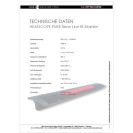 HEATSCOPE PURE: technische Daten