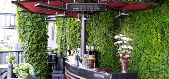HEATSCOPE SPOT, Heizstrahler-Installation im Hotel Am Platzl, München