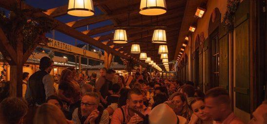 HEATSCOPE SPOT, Heizstrahler-Installation im Marstall Festzelt auf dem Oktoberfest
