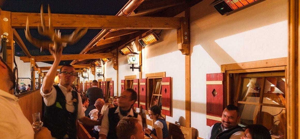 HEATSCOPE Spot Power-Heizstrahler, Festzelt: Goldener Hahn auf dem Oktoberfest, Muenchen