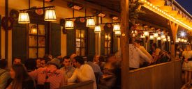 HEATSCOPE Spot Power-Heizstrahler im Festzelt Marstall auf dem Oktoberfest, Muenchen