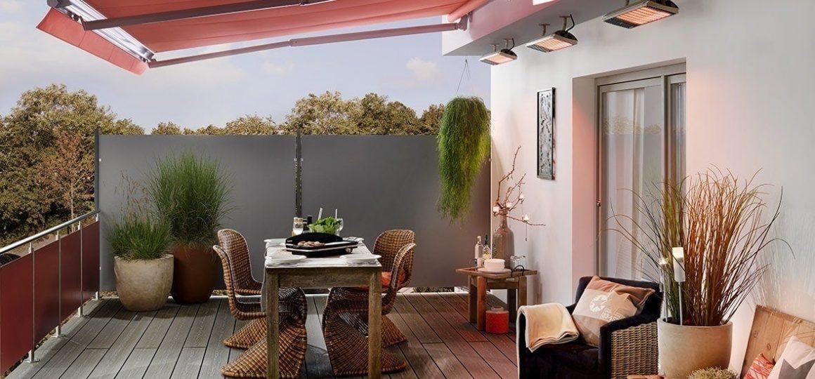 HEATSCOPE Spot power heater, private estate, Emsdetten