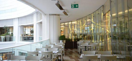 HEATSCOPE VISION, Heizstrahler-Installation in der Akasya-Shopping-Mall, Istanbul