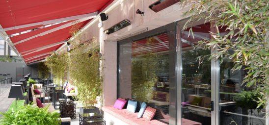 HEATSCOPE VISION, Heizstrahler-Installation, Café, Madrid