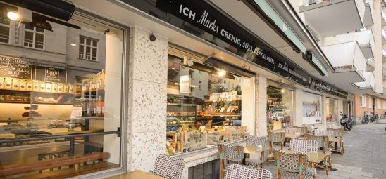 HEATSCOPE VISION, Heizstrahler-Installation, Café Marks, Muenchen-Schwabing