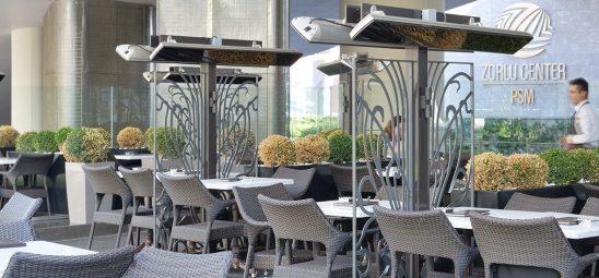 HEATSCOPE VISION, Heizstrahler-Installation im Godiva Café, Istanbul