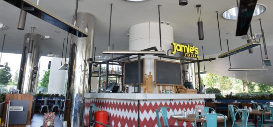 HEATSCOPE VISION, Heizstrahler-Installation in Jamie's Italian Restaurant, Istanbul