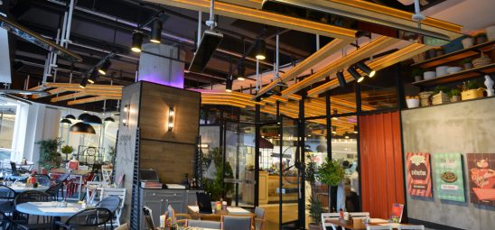 HEATSCOPE VISION, Heizstrahler-Installation im Kirpi-Café, Istanbul