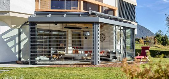 HEATSCOPE VISION Heizstrahler, Wintergarten-Installation, Tirol