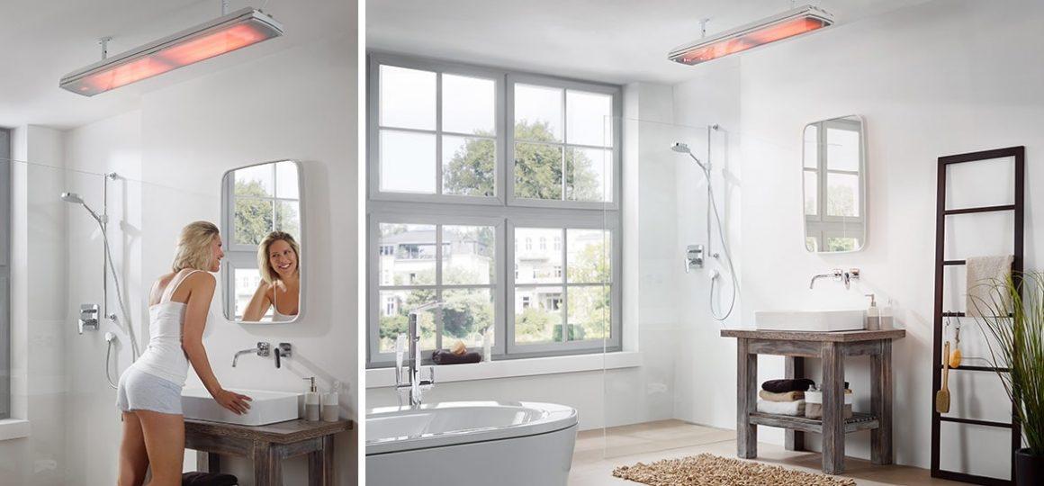 HEATSCOPE vision ambient heaters, bathroom installation, Berlin