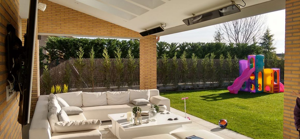 HEATSCOPE Vision ambiente heater, garden terrace, private estate, Barcelona, Spain