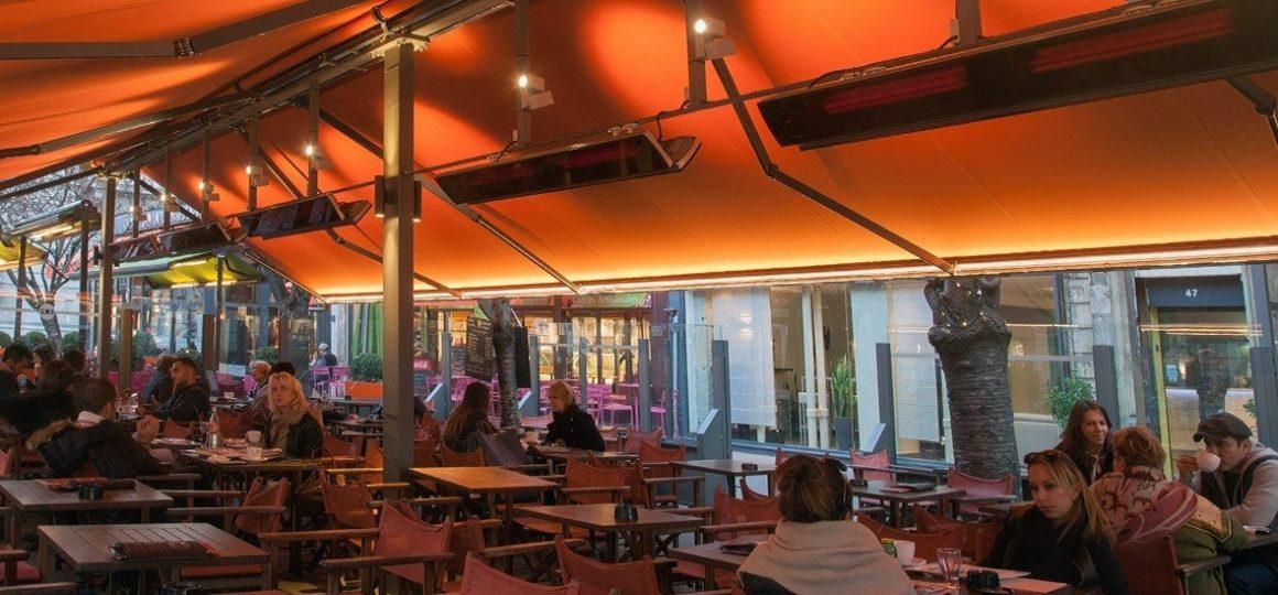 HEATSCOPE Vision Ambiente-Heizstrahler, Strassen-Cafe, Paris