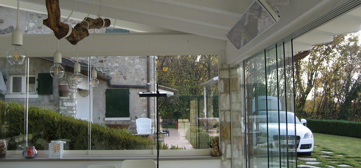 HEATSCOPE Vision Ambiente-Heizstrahler, kleines Gartenhaus, Italien